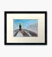 Lonely voyage Framed Print