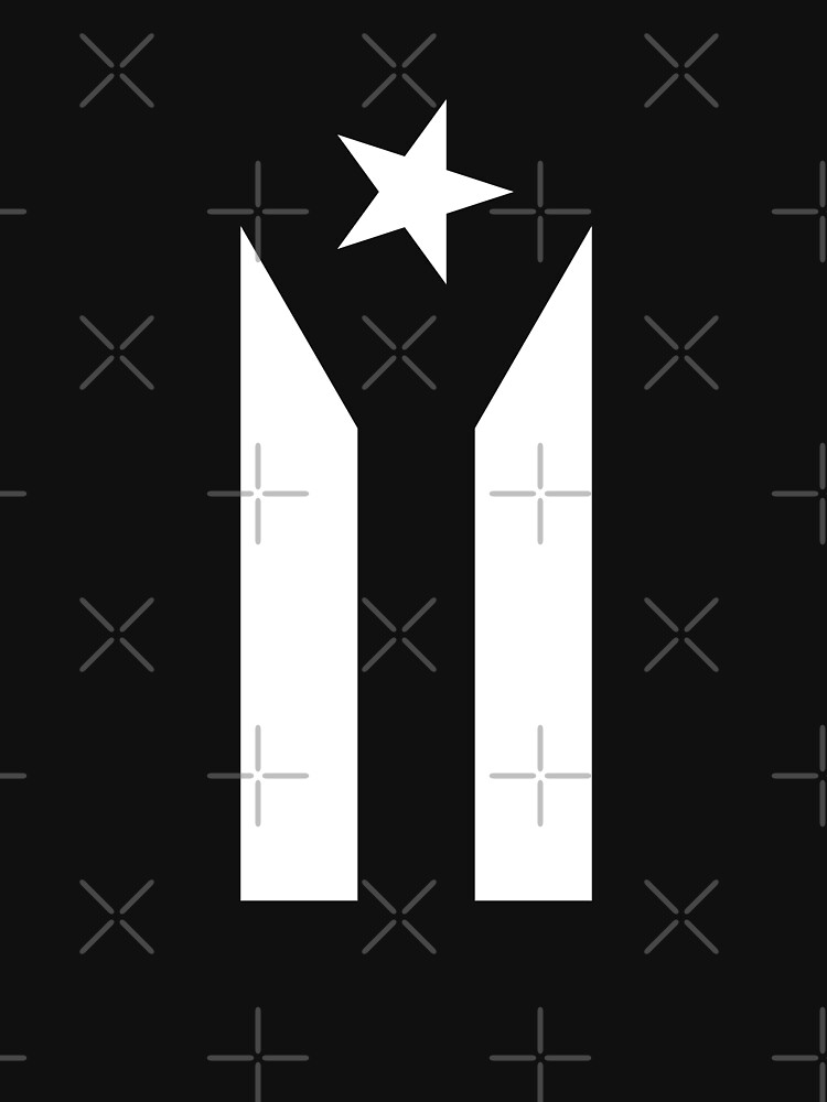puerto rico flag black and white by tayldelaney
