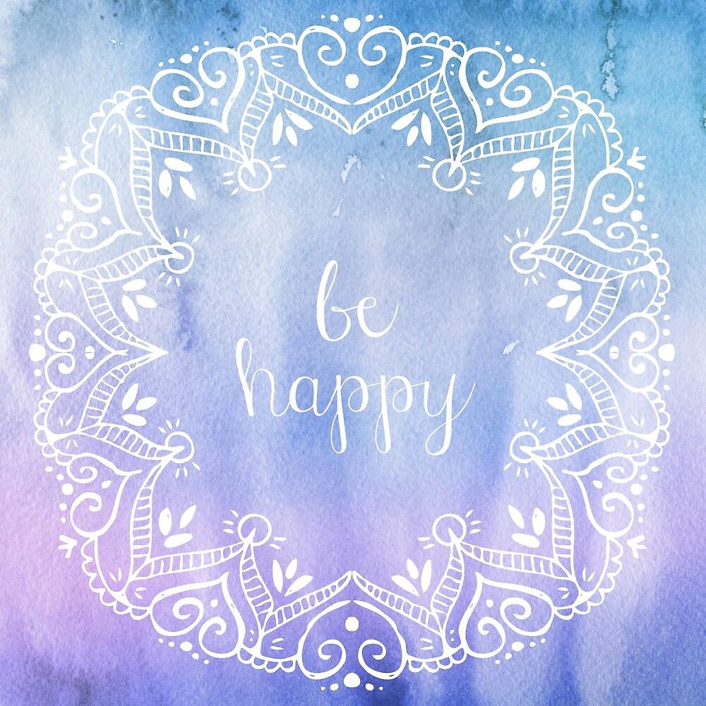be happy watercolor  by artillia