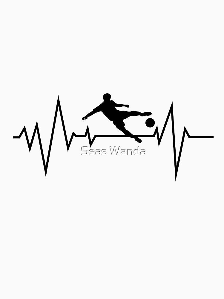 Soccer Heartbeat Men Women Boy Girl by macshoptee