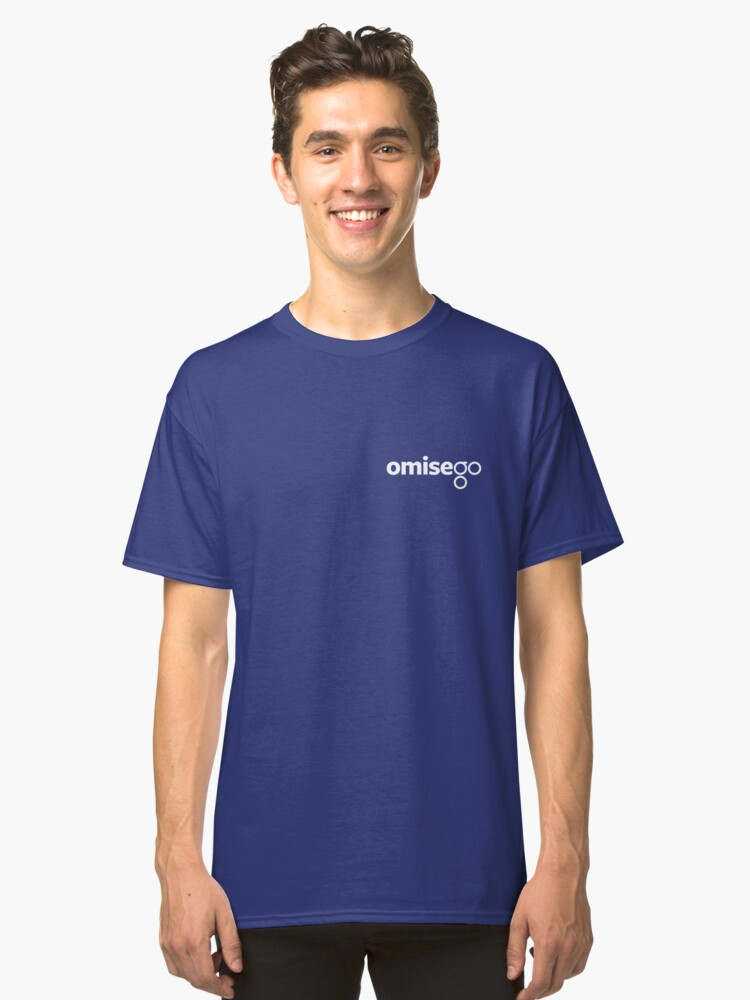 Omise Go Logo White - As Worn By Vitalik Buterin Classic T-Shirt Front