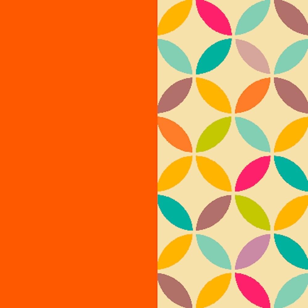 retro pop 1 orange  by MidnightSoda