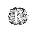Floral typography - letter K by ychty