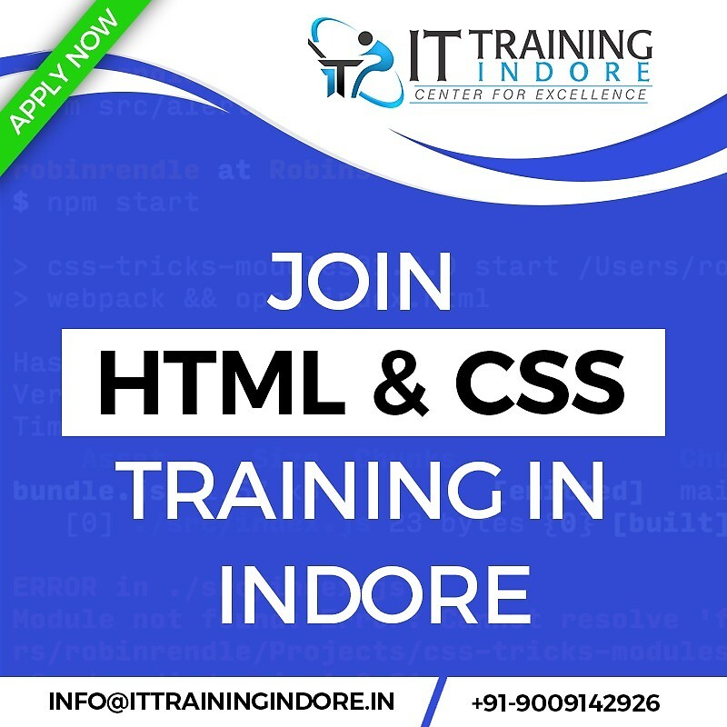 HTML and CSS Training in Indore by IT Training Indore