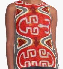 Ковровый узор балкарского или карачаевского войлочного ковра - Carpet pattern of the Balkarian or Karachai felt carpet. Contrast Tank