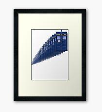 Dr Who Time Travel Tardis Framed Print