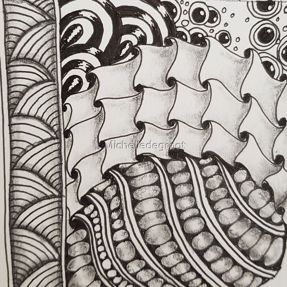 Zentangle 2 by Michelledegroot