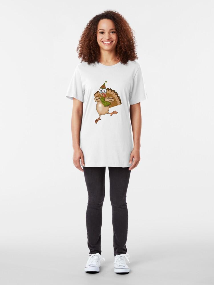 Alternate view of Birthday Turkey! Slim Fit T-Shirt