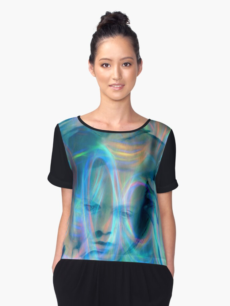TROUBLED Women's Chiffon Top Front