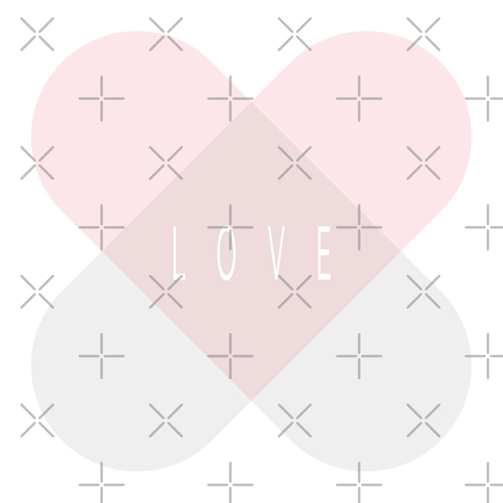 Healing Love Heart - Pink and Silver  by designenrich