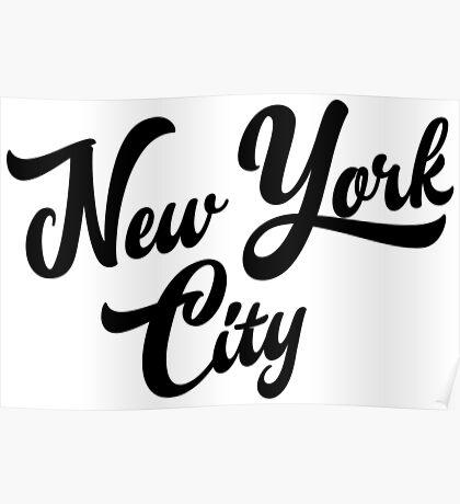 New York City Handwritting Poster