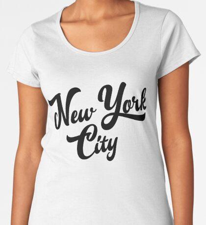 New York City Handwritting Premium Scoop T-Shirt