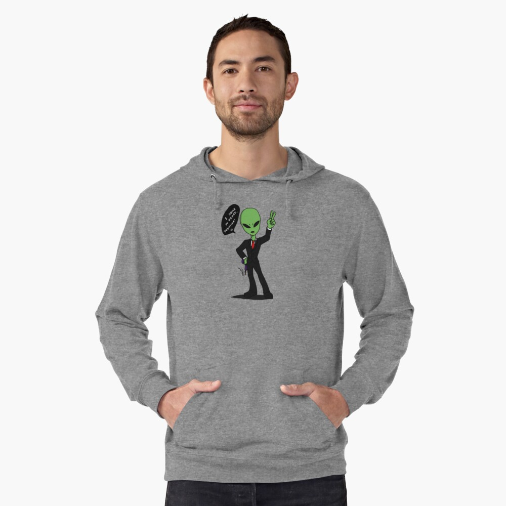 Alien: I come in peace Lightweight Hoodie Front