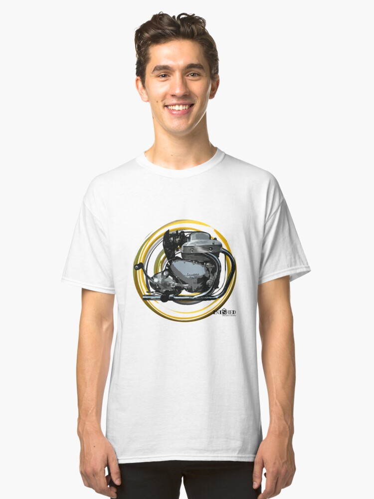 Inished Arial Square Four Engine art Classic T-Shirt Front