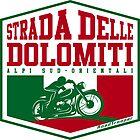 Strada Delle Dolomiti - Dolomites Motorcycle T-Shirt Sticker Design by ROADTROOPER