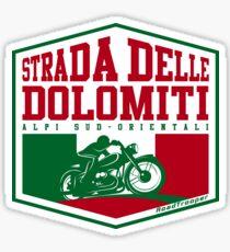 Strada Delle Dolomiti - Dolomites Motorcycle T-Shirt Sticker Design Sticker