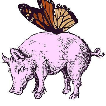pink pig by rezatika