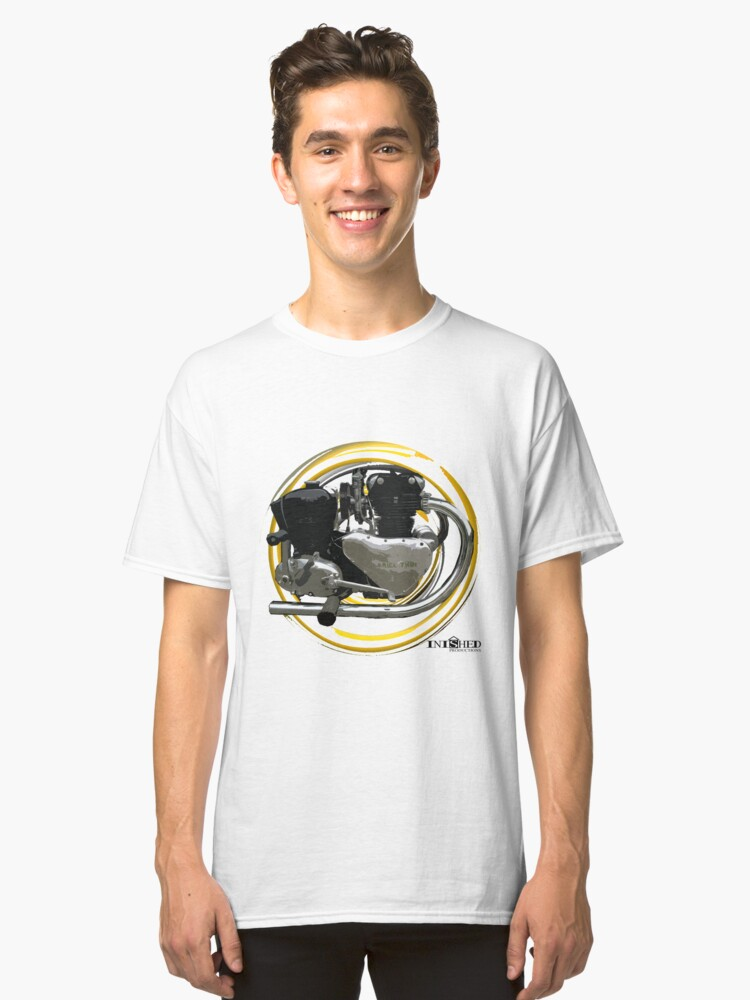 Inished Arial Twin 500cc engine art Classic T-Shirt Front