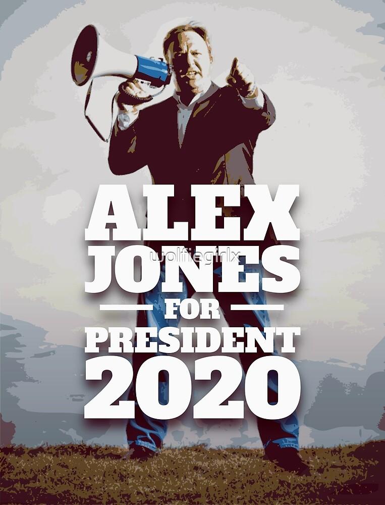 Alex Jones for President 2020 by wolfiegirlx