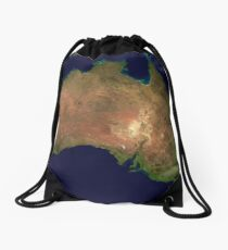 Australia continent aerial view geography Drawstring Bag