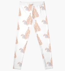 Donkey at Christmas Marble Silhouette Leggings
