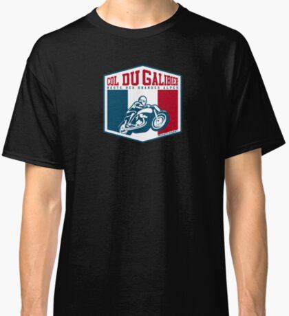 Route des Grandes Alpes France Motorcycle T-Shirt Sticker - Col du Galibier 2 Classic T-Shirt