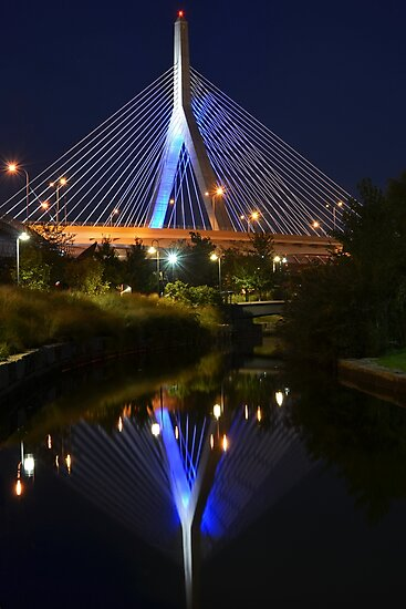 Lenny Zakim Bridge Reflection Boston MA by WayneOxfordPh