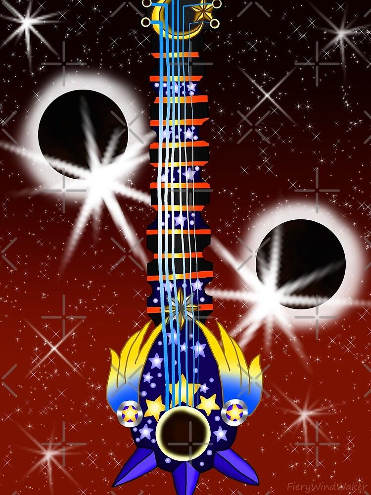 Fusion Keyblade Guitar #144 - Total Eclipse & Star Seeker by FieryWindWaker