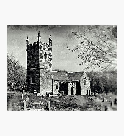 St Wynwallow in Collodion Photographic Print