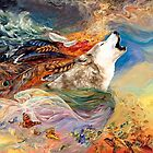 White Wolf dreamscapes oil paintings by ADZKIYYA DESIGN