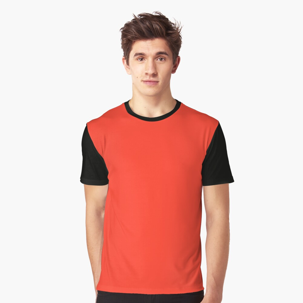 Plasma Red | Solid Colour Graphic T-Shirt Front