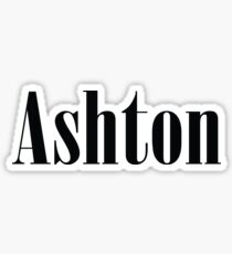 Name Ashton / Inspired by The Color of Money Sticker