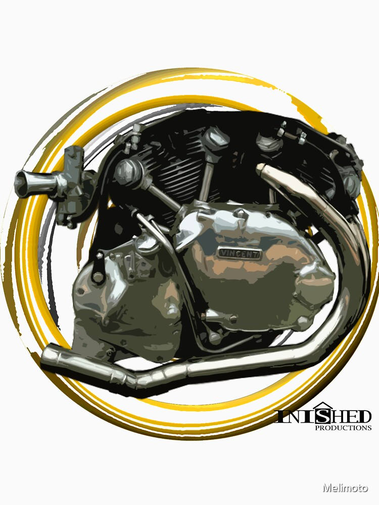 Inished classic Vincent motorcycle engine art by Melimoto