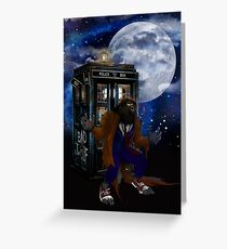 bad were wolf time travel Greeting Card