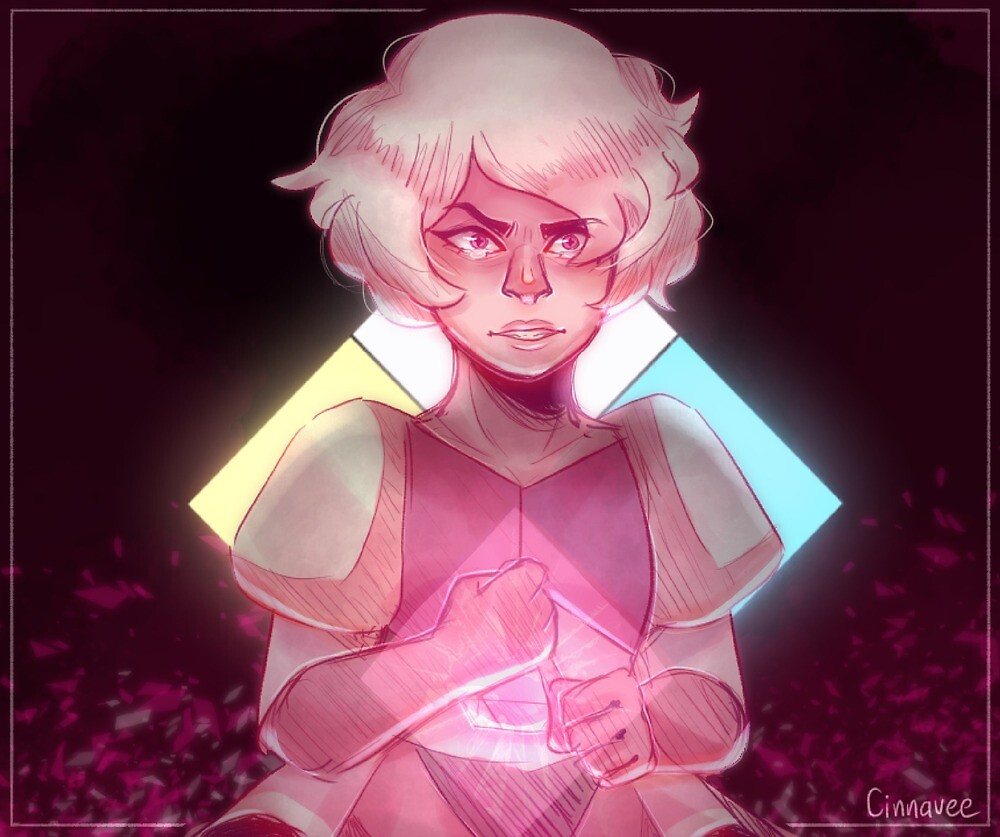 Pink Diamond (Steven Universe Poster) by cinnavee