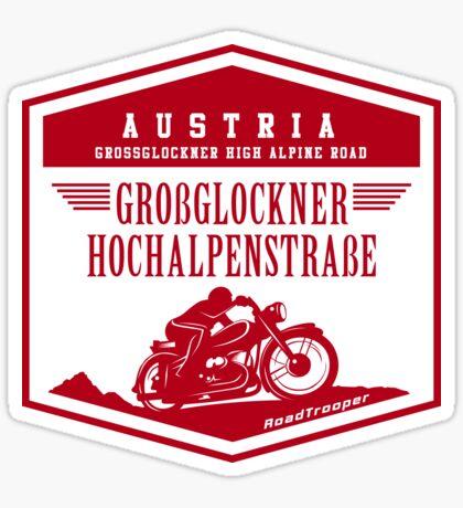 Austria - Grossglockner Pass Motorcycle T-Shirt Sticker Design Sticker