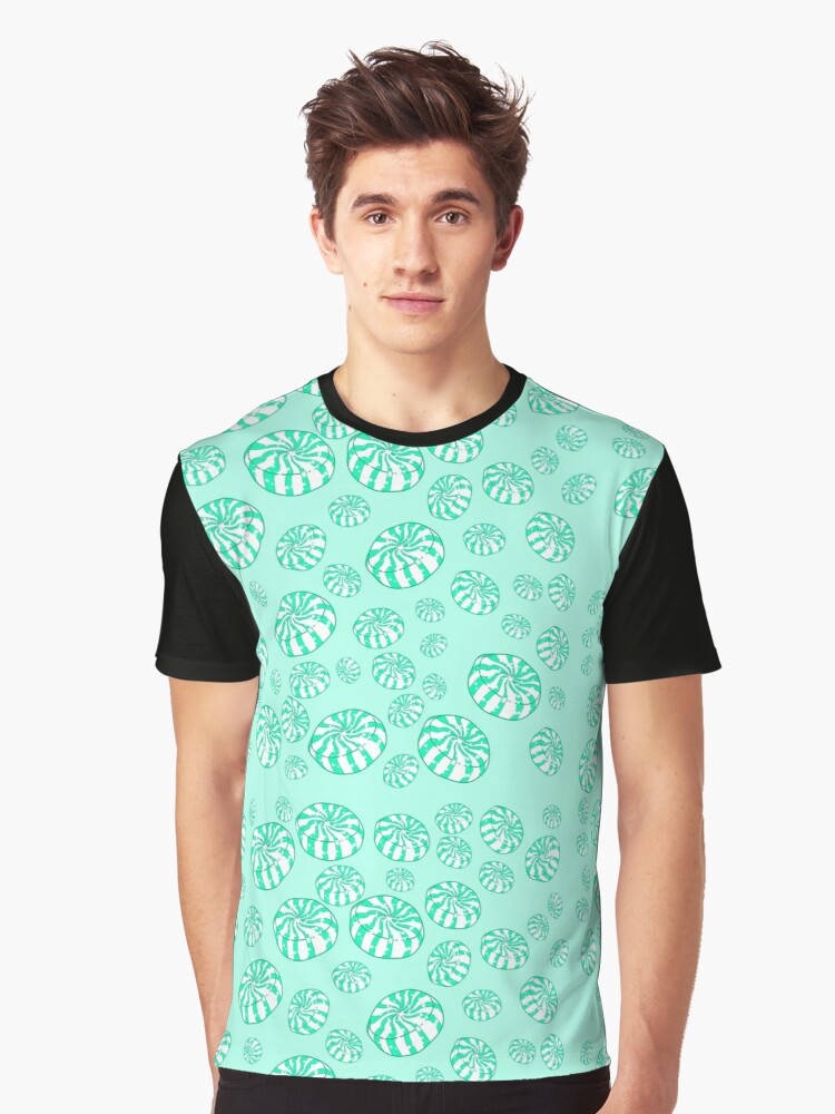 Peppermint Candies Graphic T-Shirt Front