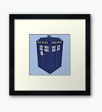 Pixel Doctor Who Tardis Framed Print