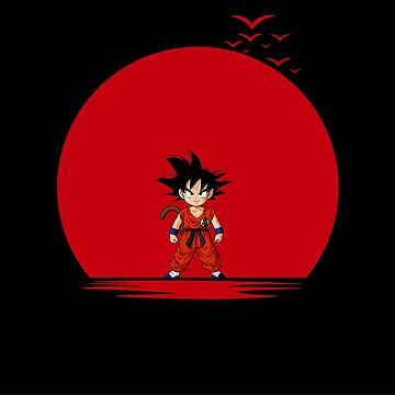 Goku Red Sun by MDaniel