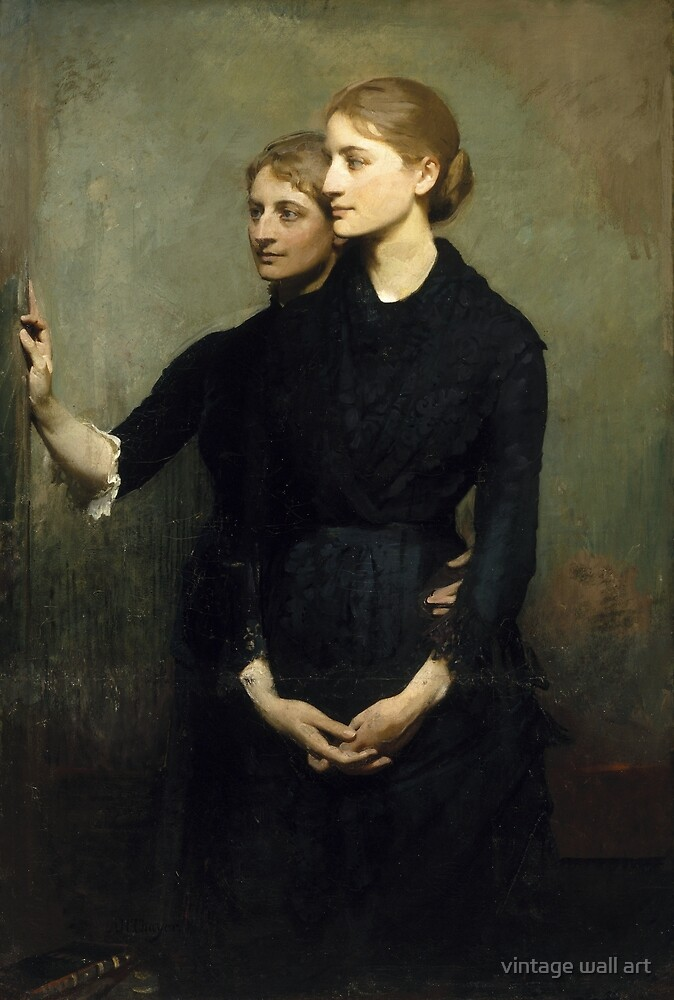 Abbott H. Thayer - The Sisters, 1884 by fineearth