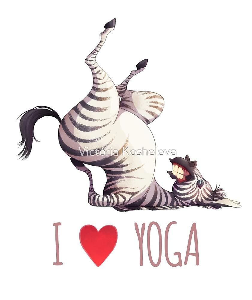 Zebra likes yoga by Victoria Kosheleva