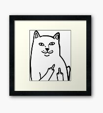 F*ckU Cat - Lord Nermal Framed Print