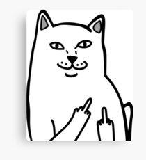 F*ckU Cat - Lord Nermal Canvas Print