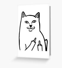 F*ckU Cat - Lord Nermal Greeting Card