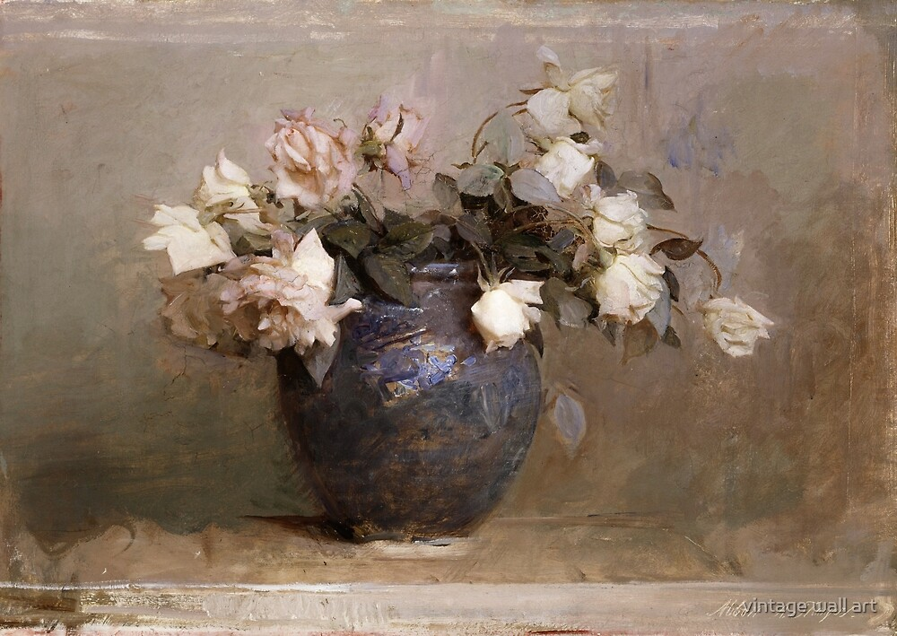 Roses by Abbott Handerson Thayer, 1890 by fineearth