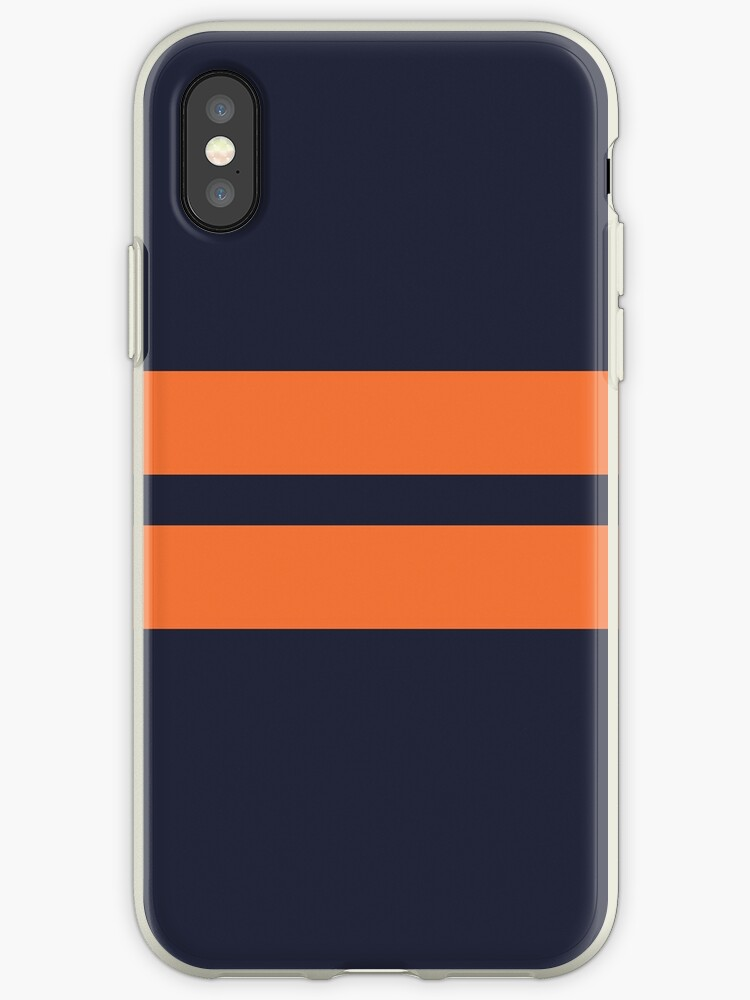 Navy Blue/Orange Stripes by sidebar
