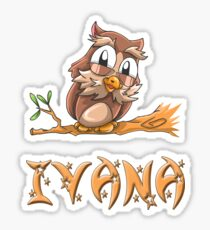 Ivana Owl Sticker