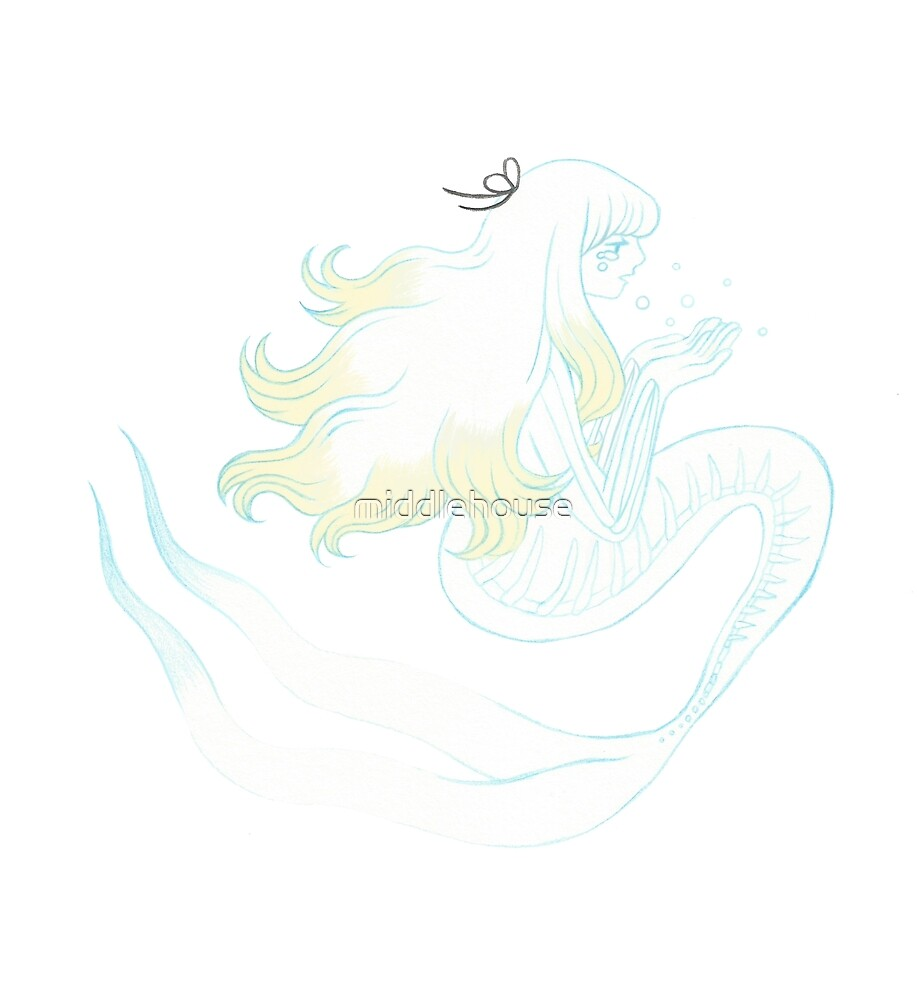 Ghost mermaid by middlehouse