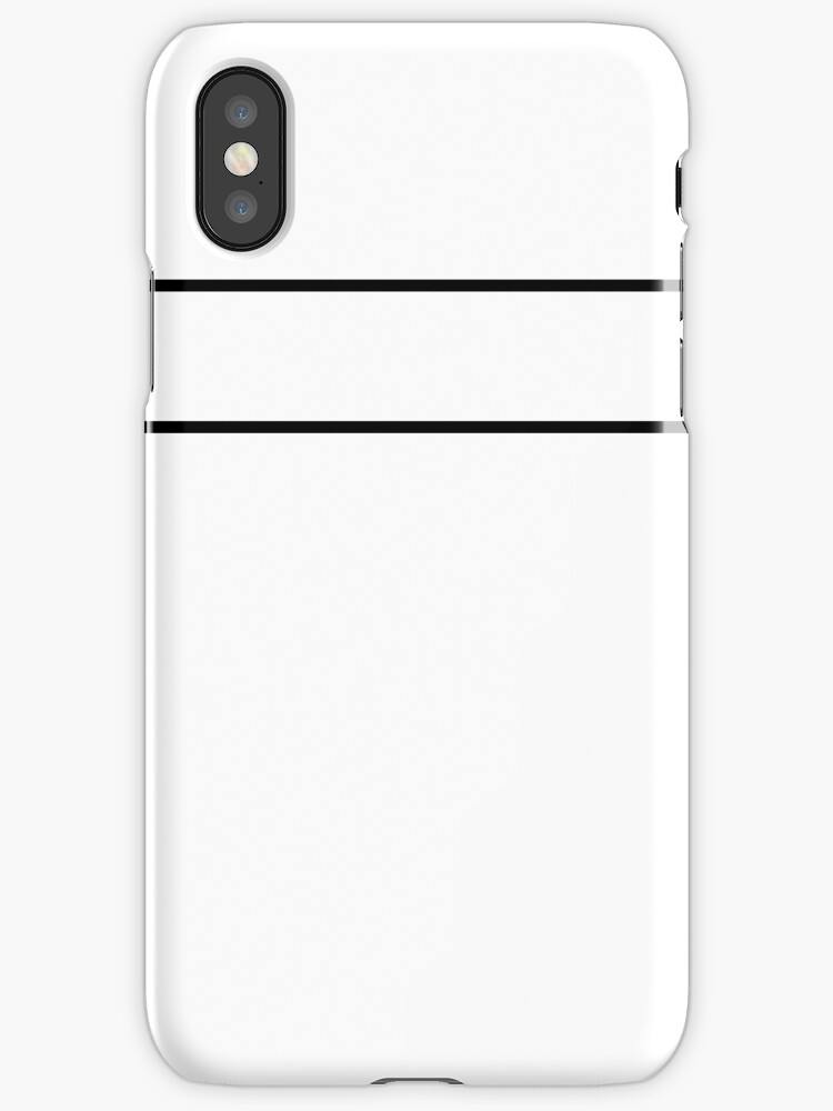 White/Black Minimalist Stripes by sidebar
