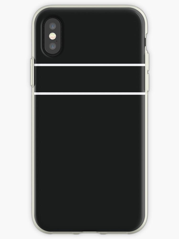 Black and White Minimalist Stripes by sidebar